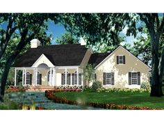 The Janessa Place Plantation Home has 3 bedrooms, 2 full baths and 1 half bath. See amenities for Plan 084D-0040.