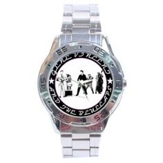 Gene Vincent & The Bluecaps themed Stainless Steel wristwatch from www.RetroHound.co.uk  Chunky and weighty little collectible for fans of the legendary Rock n' Roller