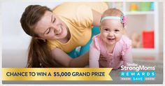 Enter the Baby's First Milestones Giveaway from Similac StrongMoms Rewards. You could win over $5,000 in baby's first milestones essentials, plus have a shot at winning one of 300 instant prizes! Ends 4/1/2018