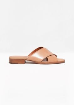 These laid-back leather sandals have an easy slip-in style that provides unfailing comfort all day long.
