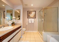 Grand Champions #130848 | Maui Hawaii Vacations private guest bathroom with Spacious shower and separate bathtub