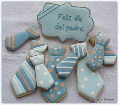 Galletas para papa. Se acerca del día del padre..Estas galletas nos parecen una buena idea para decirle lo mucho que le queremos....