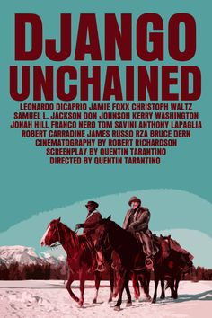 Django Unchained - movie poster - FunnyFaceArt