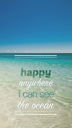 """I am happy anywhere I can see the ocean."" Long live Summer! We love the ocean. #besidethesea"
