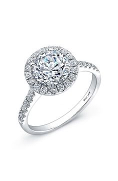 Bony+Levy+Pavé+Diamond+Leaf+Engagement+Ring+Setting+(Nordstrom+Exclusive)+available+at+#Nordstrom