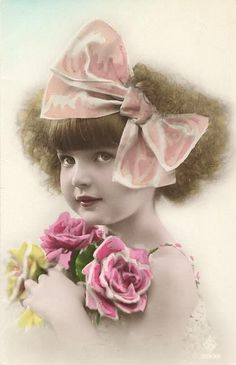 Sweet girl!  Photo that has been tinted or painted for color