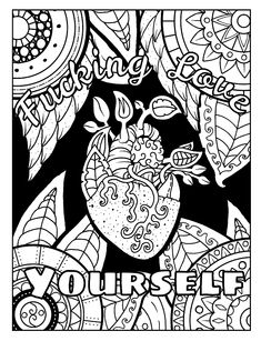Coloring Book For Adults With Awesome Swear Word Pages Including Motivational Phrases Motivation