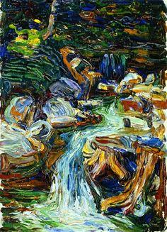 The Athenaeum - Kochel - Waterfall II (Wassily Kandinsky - 1902)