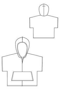 Baja Hoody PDF Sewing Pattern swim cover up from Blank Slate Patterns. Make from toweling for a swim/beach cover up
