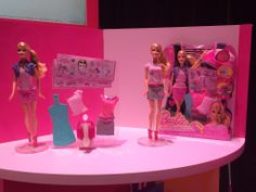 Your Sneak Peek at Toys Coming Your Way This Year: Fashion designers can help design Barbie's clothes burnishing iron on decals onto the pieces. Barbie Clothes, Barbie Dolls, Barbie Collection, New Toys, Cool Things To Buy, Photo Galleries, Kids Shop, Iron, Fashion Designers