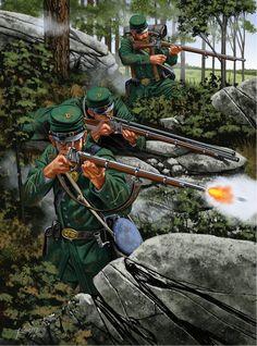 Sharpshooting Rifles of the American Civil War.Berdan Sharpshooters in action