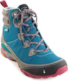 Hiking gear boots Incredibly lightweight yet very supportive, the womens Ahnu Sugarpine waterproof hiking boots are ready to cover miles of trails. Camping And Hiking, Hiking Gear, Hiking Backpack, Kayak Camping, Winter Camping, Hiking Tips, Camp Gear, Best Hiking Shoes, Waterproof Hiking Boots