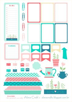 Free Tea Party Planner Stickers | Alana Crafts                                                                                                                                                                                 Mais