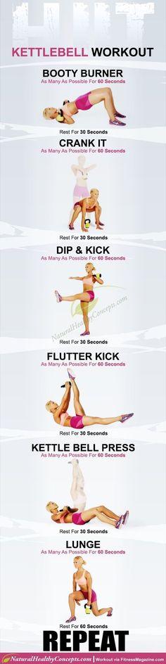 Kettlebell workout   Posted By: CustomWeightLossProgram.com https://www.kettlebellmaniac.com/kettlebell-exercises/