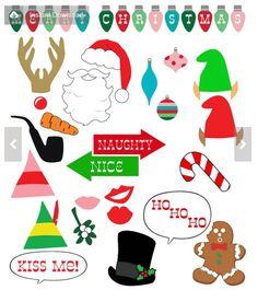 Christmas Photo Booth Props - DIY - Printable | Free christmas DIY ...