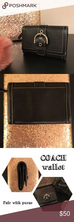 COACH wallet *Authentic* Coach wallet, in excellent condition, matches with purse in photo. Authentic and clean, no scratches. Bundle and save 💵!! Coach Bags Wallets