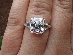 Meticulous and Feminine Asscher Cut Engagement Rings