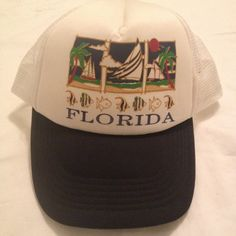 71fe05791 90 s Florida Snapback Hat   1990 s Mesh Baseball by RetroFreshTees Baseball  Hats
