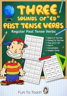 "Past Tense Verbs - Three Sounds of ""ed"" - Grammar Games - #share Hashtags: #Majestic #Grammar"