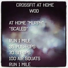 I wish I would have known about this one for Memorial Day Murph #crossfit #wod #crossfitathome #herowod