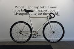 """""""When I got my bike I must be the happiest boy in Liverpool, maybe the world."""" John Lennon"""