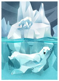 Polar Bear by Dieter Braun. Low poly                                                                                                                                                                                 More