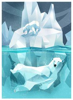 Polar Bear by Dieter Braun. Low poly