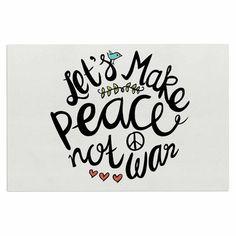East Urban Home 'Peace Not War' Doormat