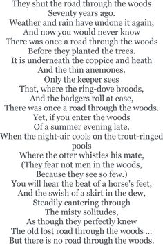 The Way Through the Woods by Rudyard Kipling.  http://annabelchaffer.com/