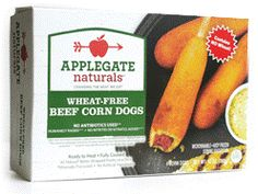 Applegate Farms Gluten Wheat Free Beef Corn Dogs In the freezer, $7.39 for 10 oz
