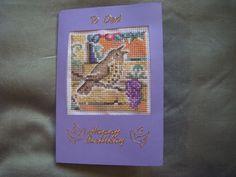 Bird on Wysteria birthday card for my dad.
