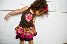 PATTERN and TUTORIAL Layered Cake Skirt Girls by DreamSpunKids