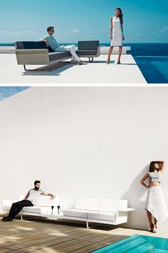 A comfortable, durable and design sofa for your outdoor? Yes, it is possible with Vondom's Delta Outdoor collection. Dress your poolside with contemporary quality furniture. #gardenlounge #inspiration #vondom #outdoor #barazzi