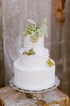 Wedding Cake on SMP:  http://www.StyleMePretty.com/southeast-weddings/2014/03/03/organic-rustic-wedding-inspiration/ Photography: Andi Mans