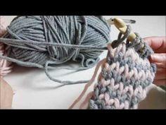 Super chunky tunische sjaal haken - YouTube