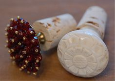 buttons & corks for bottle stoppers