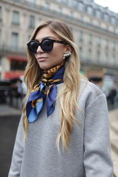 They Are Wearing: Paris Fashion Week - Slideshow the shades are dope.  The earrings are not too bad either