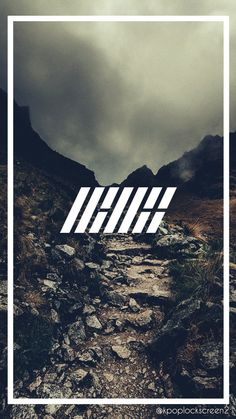 iKON LOGO Wallpaper cr : Kpoplockscreen2
