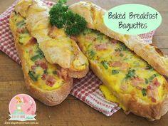 Baked Breakfast Baguettes