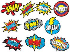 Superhero Sayings Accents - Use this decorative artwork to dress up classroom walls and doors, label bins and desks, or accent bulletin boards. Each piece is approx. 30 pieces per pack. Superhero Bulletin Boards, Superhero Classroom Decorations, Classroom Displays, Superhero Party, Classroom Themes, Superhero School Theme, Batman Party, Superhero Superhero, Superhero Alphabet