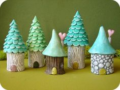 25 Perfect Simply Try Diy Polymer Clay Fairy Garden Ideas. If you are looking for Simply Try Diy Polymer Clay Fairy Garden Ideas, You come to the right place. Below are the Simply Try Diy Polymer Cla. Polymer Clay Fairy, Fimo Clay, Polymer Clay Projects, Polymer Clay Creations, Diy And Crafts, Arts And Crafts, Summer Crafts, Fall Crafts, Clay Fairy House