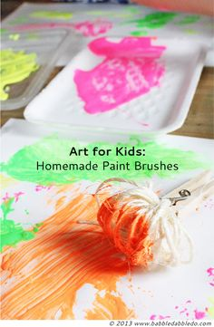 16 Homemade Paint Brushes | BABBLE DABBLE DO All you need are clothespins and imaginative ideas!