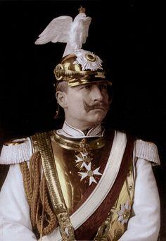 Wilhelm II posing in uniform.