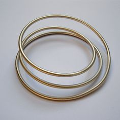 Round Hoops Bangle 3 by Dot Sim