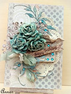 Urodzinowa kartka / Birthday Card - Annar - Moje pasje