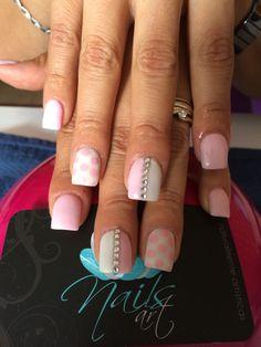 Nails art, acrylic nails, nails http://cutenail-designs.com/