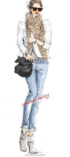 .: Xunxun Missy Fashion Illustrations