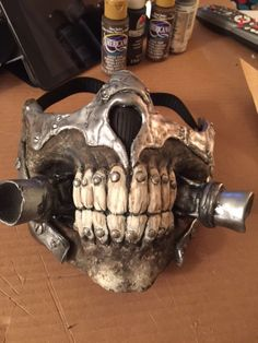 "This Immortal Joe mask from ""Mad Max: Fury Road"" was made out of InstaMorph moldable plastic."