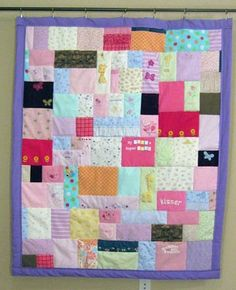 a quilt with all of your favorite outfits from babys first year!  I am going to do this!! nikirae122