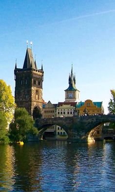 View of Old Town Bridge Tower & Charles Bridge in Prague,Czech Republic